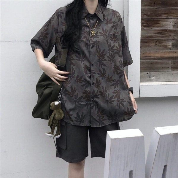 Black Oversized Drape Shirt 1 - My Sweet Outfit - EGirl Outfits - Soft Girl Clothes