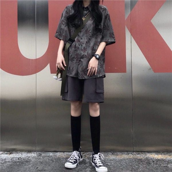 Black Oversized Drape Shirt 2 - My Sweet Outfit - EGirl Outfits - Soft Girl Clothes