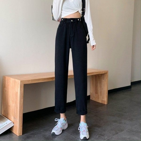 Blue Loose High Waist Jeans 2 - My Sweet Outfit - EGirl Outfits - Soft Girl Clothes