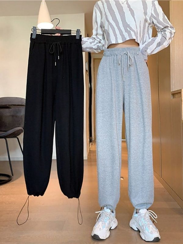 Casual Grey Sport Pants 1 - My Sweet Outfit - EGirl Outfits - Soft Girl Clothes