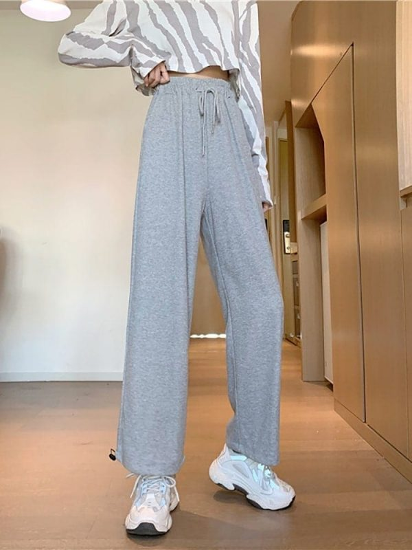 Casual Grey Sport Pants 2 - My Sweet Outfit - EGirl Outfits - Soft Girl Clothes