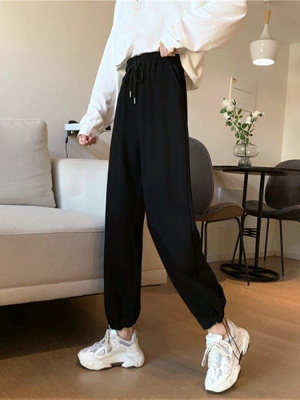 Casual Grey Sport Pants 4 - My Sweet Outfit - EGirl Outfits - Soft Girl Clothes