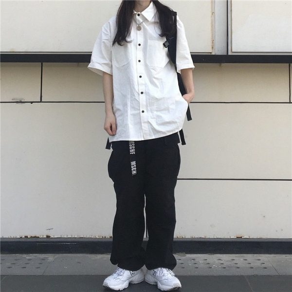Casual Short-Sleeved Classic Shirt 2 - My Sweet Outfit - EGirl Outfits - Soft Girl Clothes Aesthetic
