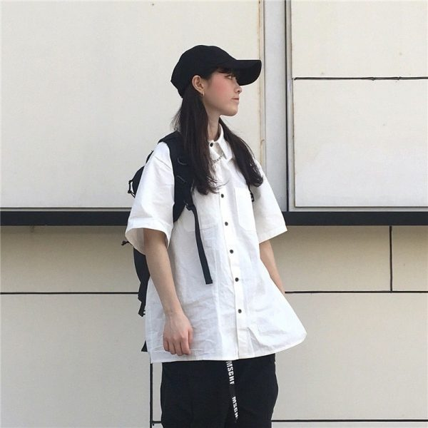 Casual Short-Sleeved Classic Shirt 3 - My Sweet Outfit - EGirl Outfits - Soft Girl Clothes Aesthetic