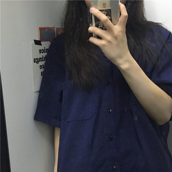 Casual Short-Sleeved Classic Shirt 4 - My Sweet Outfit - EGirl Outfits - Soft Girl Clothes Aesthetic