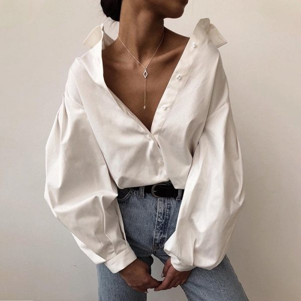 Fashion Lantern Sleeve Shirt 1 - My Sweet Outfit - EGirl Outfits - Soft Girl Clothes Aesthetic