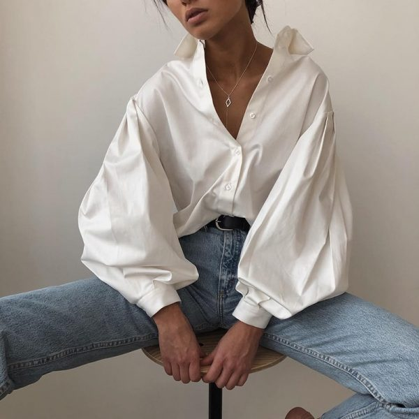 Fashion Lantern Sleeve Shirt 2 - My Sweet Outfit - EGirl Outfits - Soft Girl Clothes Aesthetic