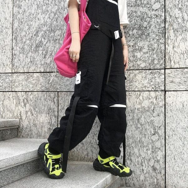 Harajuku Hip-Hop Detachable Romper 5 - My Sweet Outfit - EGirl Outfits - Soft Girl Clothes