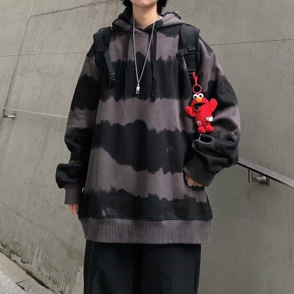 Harajuku Striped Oversized Hoodie 2 - My Sweet Outfit - EGirl Outfits - Soft Girl Clothes