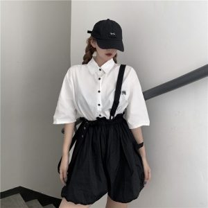 High Waist Loose Bloomer-Romper 3 - My Sweet Outfit - EGirl Outfits - Soft Girl Clothes