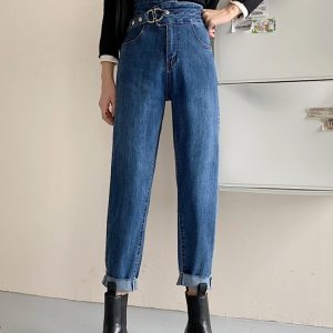 Light Blue Belted Skinny Jeans 1 - My Sweet Outfit - EGirl Outfits - Soft Girl Clothes