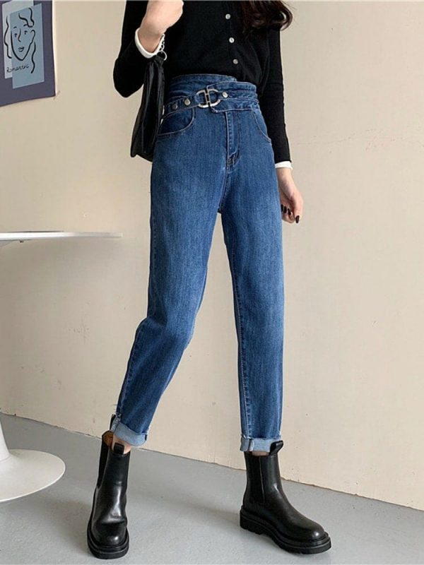 Light Blue Belted Skinny Jeans 2 - My Sweet Outfit - EGirl Outfits - Soft Girl Clothes