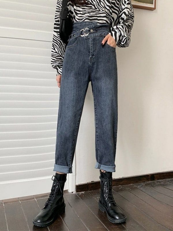 Light Blue Belted Skinny Jeans 4 - My Sweet Outfit - EGirl Outfits - Soft Girl Clothes