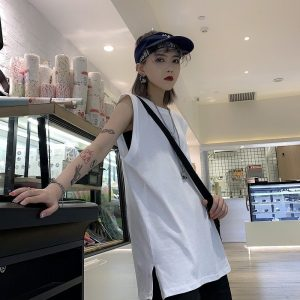 Long Sleeveless T-shirt 1 - My Sweet Outfit - EGirl Outfits - Soft Girl Clothes