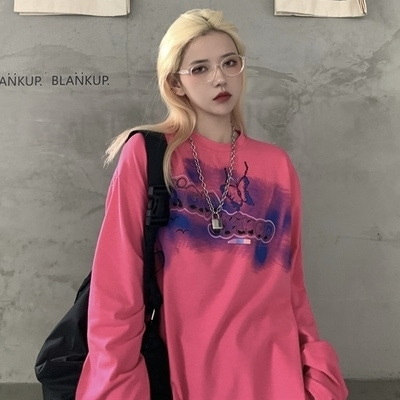 Oversize Long-sleeved Sweatshirt Butterfly Graffiti 2 - My Sweet Outfit - EGirl Outfits - Soft Girl Clothes