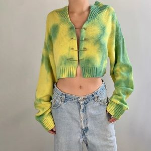 Pin Tie-Dye Short Sweater 1 - My Sweet Outfit - EGirl Outfits - Soft Girl Clothes