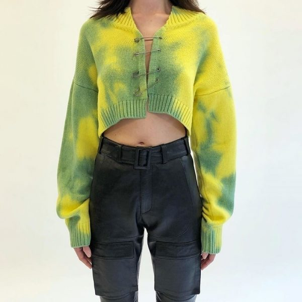 Pin Tie-Dye Short Sweater 4 - My Sweet Outfit - EGirl Outfits - Soft Girl Clothes
