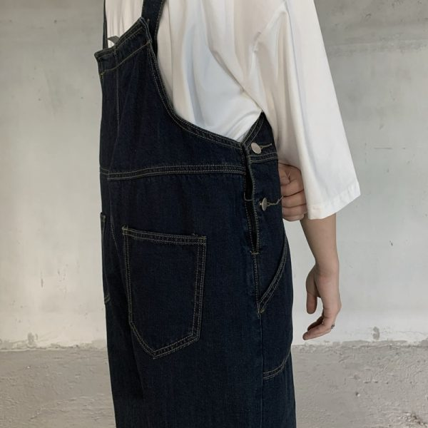 Retro Straight Denim Romper 3 - My Sweet Outfit - EGirl Outfits - Soft Girl Clothes