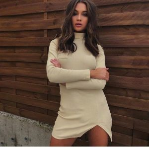 Short Slim Knitted Dress 1 - My Sweet Outfit - EGirl Outfits - Soft Girl Clothes