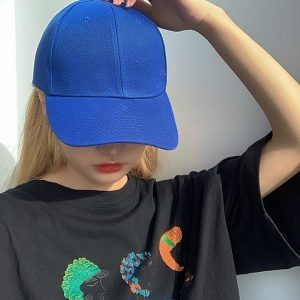 Simple Retro Baseball Cap 1 - My Sweet Outfit - EGirl Outfits - Soft Girl Clothes