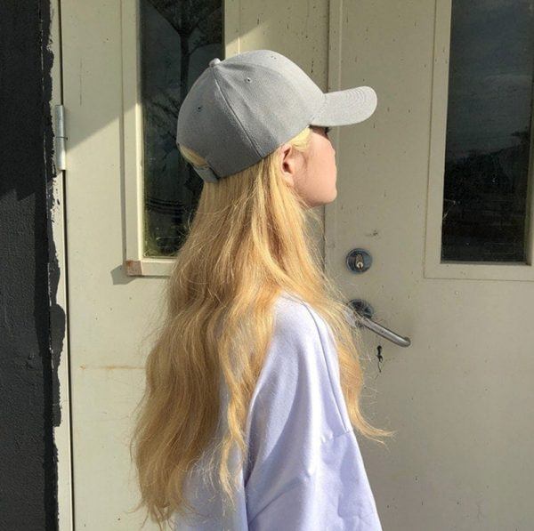 Simple Retro Baseball Cap 2 - My Sweet Outfit - EGirl Outfits - Soft Girl Clothes