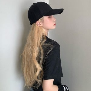 Simple Retro Baseball Cap 3 - My Sweet Outfit - EGirl Outfits - Soft Girl Clothes