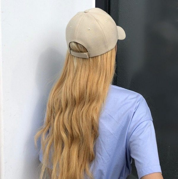 Simple Retro Baseball Cap 4 - My Sweet Outfit - EGirl Outfits - Soft Girl Clothes