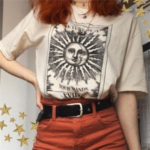 Sun And Moon T-Shirt 1 - My Sweet Outfit - EGirl Outfits - Soft Girl Clothes
