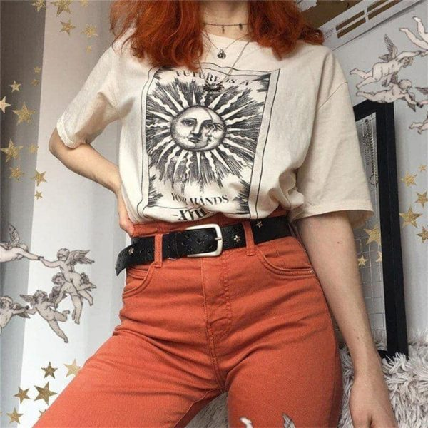 Sun And Moon T-Shirt 2 - My Sweet Outfit - EGirl Outfits - Soft Girl Clothes