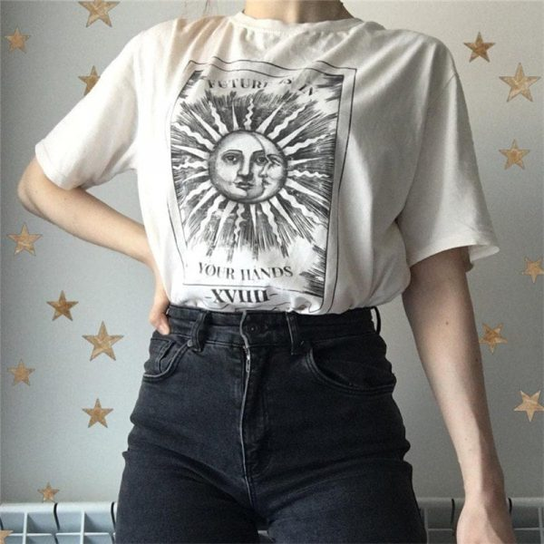 Sun And Moon T-Shirt 3 - My Sweet Outfit - EGirl Outfits - Soft Girl Clothes