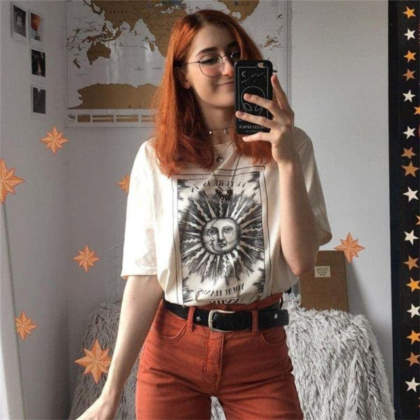 Sun And Moon T-Shirt 4 - My Sweet Outfit - EGirl Outfits - Soft Girl Clothes