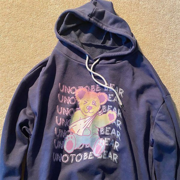 Teddy Bear Long-Sleeved Hoodie 3 - My Sweet Outfit - EGirl Outfits - Soft Girl Clothes
