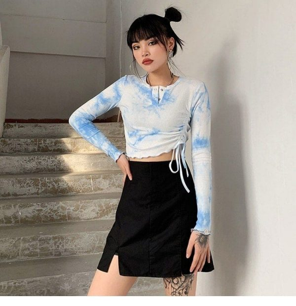 Tie-Dye Long-Sleeved Top 4 - My Sweet Outfit - EGirl Outfits - Soft Girl Clothes