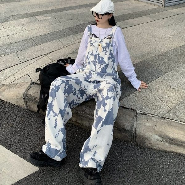 Tie-Dye Wide-Leg Jumpsuit 2 - My Sweet Outfit - EGirl Outfits - Soft Girl Clothes