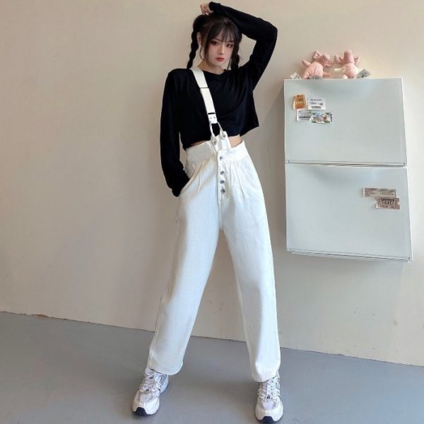 Trendy One Strap And High Waist Jumpsuit 2 - My Sweet Outfit - EGirl Outfits - Soft Girl Clothes