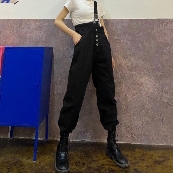 Trendy One Strap And High Waist Jumpsuit 3 - My Sweet Outfit - EGirl Outfits - Soft Girl Clothes