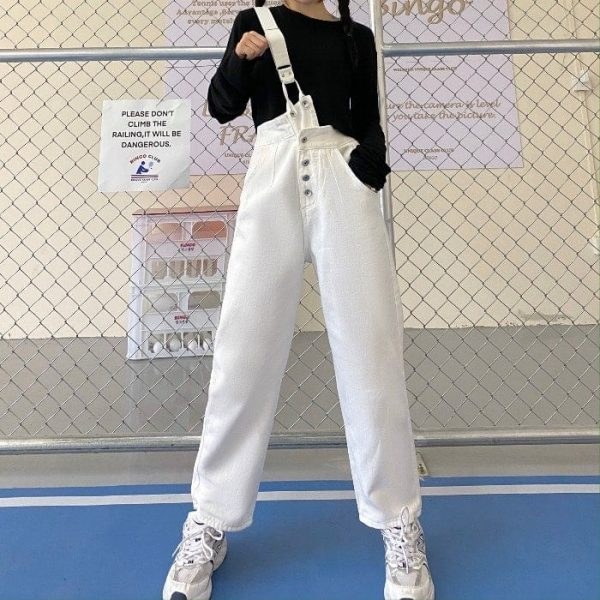 Trendy One Strap And High Waist Jumpsuit 4 - My Sweet Outfit - EGirl Outfits - Soft Girl Clothes