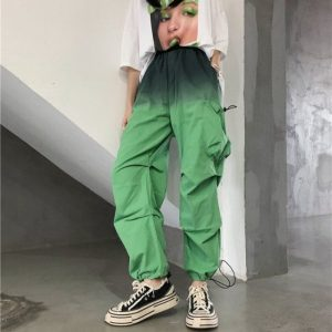 Two-Tone Side Pocket Bloomers Pants 3 - My Sweet Outfit - EGirl Outfits - Soft Girl Clothes
