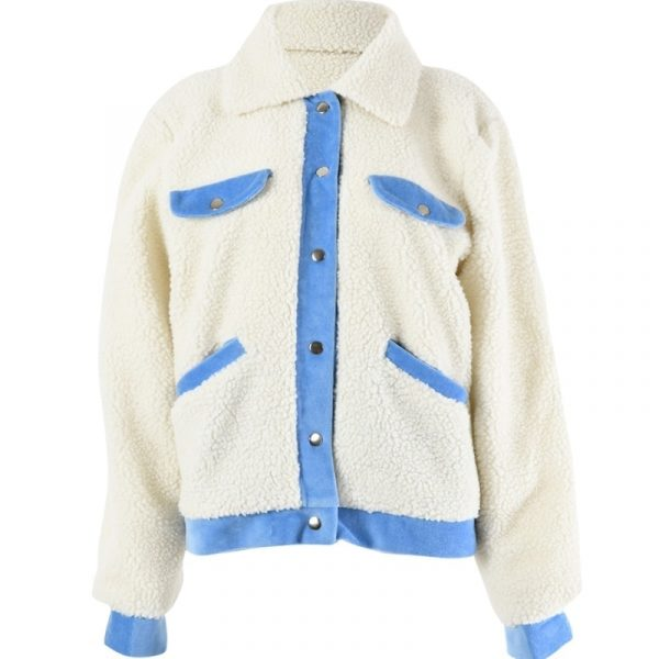 Warm Fluffy Collar Jacket 2 - My Sweet Outfit - EGirl Outfits - Soft Girl Clothes