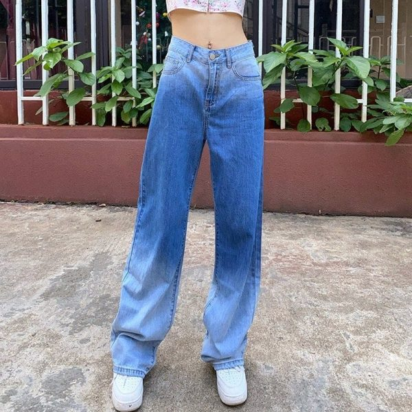 Washed Out High Waisted Jeans 2 - My Sweet Outfit - EGirl Outfits - Soft Girl Clothes