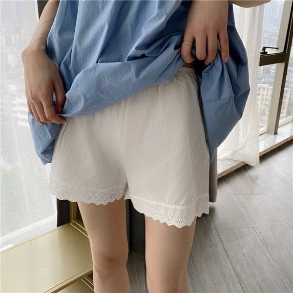 White Lace Summer Home Shorts 3 - My Sweet Outfit - EGirl Outfits - Soft Girl Clothes