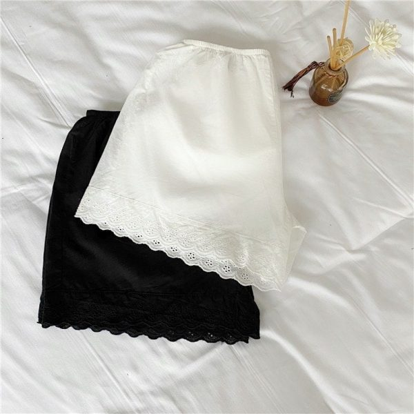 White Lace Summer Home Shorts 5 - My Sweet Outfit - EGirl Outfits - Soft Girl Clothes