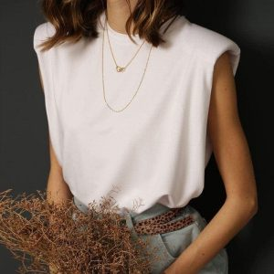 White Loose Sleevles T-Shirt 2 - My Sweet Outfit - EGirl Outfits - Soft Girl Clothes