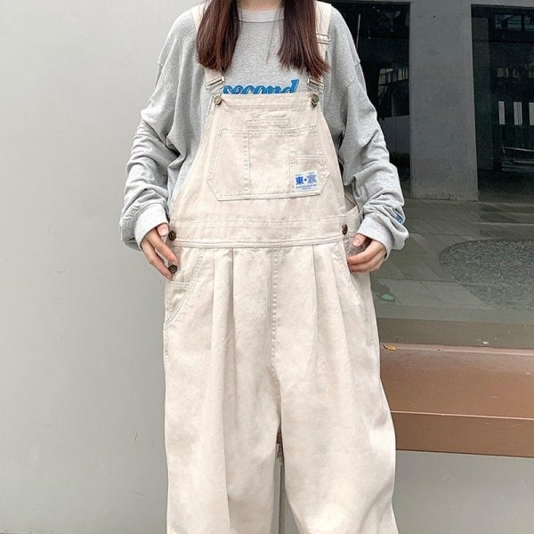 Wide Casual Jumpsuit With Hieroglyph 2 - My Sweet Outfit - EGirl Outfits - Soft Girl Clothes