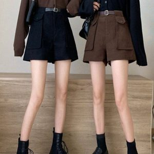 Wide Shorts With Large Pockets 1 - My Sweet Outfit - EGirl Outfits - Soft Girl Clothes