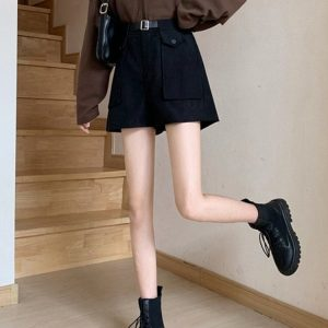 Wide Shorts With Large Pockets 3 - My Sweet Outfit - EGirl Outfits - Soft Girl Clothes