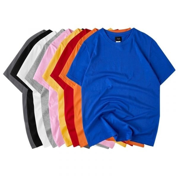 Сotton Solid Color Round Neck Loose T-shirt 2 - My Sweet Outfit - EGirl Outfits - Soft Girl Clothes Aesthetic - Grunge Fashion Grime Hip Emo Rap Trap