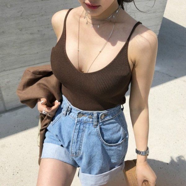 Adjustable Turn Up Denim Shorts 1 - My Sweet Outfit - EGirl Outfits - Soft Girl Clothes Aesthetic - Grunge Fashion Tumblr Hip Emo Rap Trap