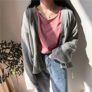 Basic Round Neck Short Sleeve T-shirt 4 - My Sweet Outfit - EGirl Outfits - Soft Girl Clothes Aesthetic - Grunge Fashion Tumblr Hip Emo Rap Trap