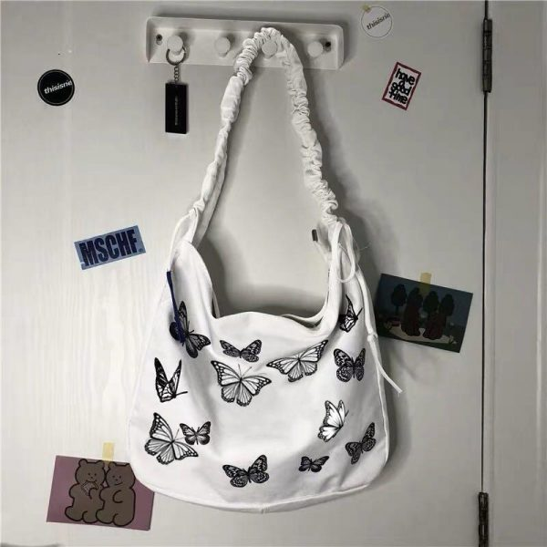 Beautiful Crumpled Bag With Butterflies 2 - My Sweet Outfit - EGirl Outfits - Soft Girl Clothes Aesthetic